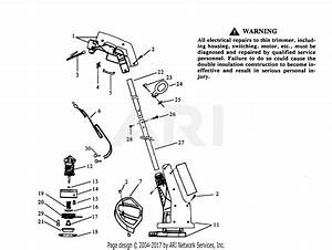 Poulan 409 9 Electric Trimmer Parts Diagram For Trimmer