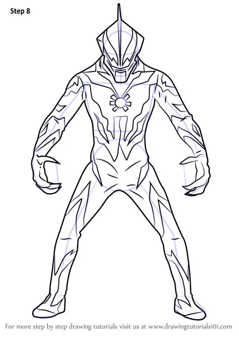 learn   draw ultraman belial step  coloring pages