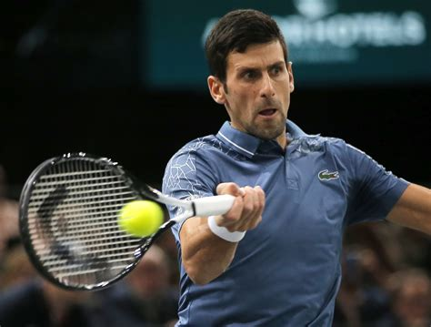 Official tennis player profile of novak djokovic on the atp tour. Djokovic faces Federer in Paris Masters semifinals