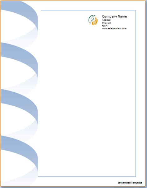 letterhead template excel word templates