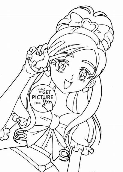 Coloring Anime Pages Printable Characters Pretty Cure