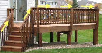 Deck Railing Post Height by Design Of Deck Stair Railing Patio Design