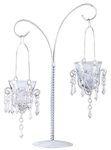 candle holder chandelier shabby chic white shabby cottage chic hanging votive candle holder teardrop mini chandelier ebay