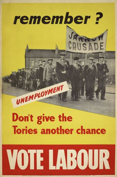labour poster party posters 1950 political election century 20th 1945 dawn general voting vote error chance give flashbak history greet