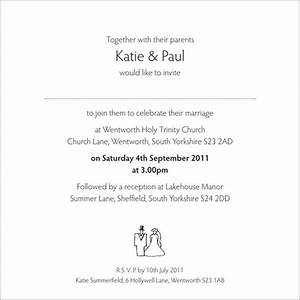 wedding invitation wording from bride and groom With evening wedding invitation wording from bride and groom