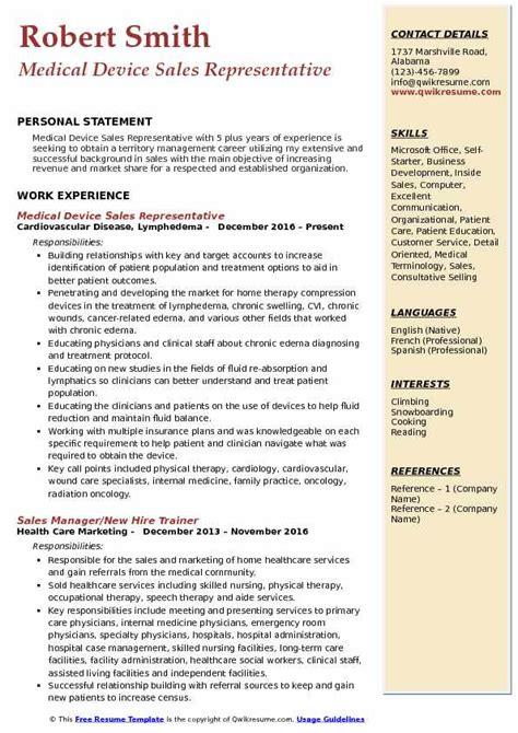 Device Sales Resume by Device Sales Representative Resume Sles