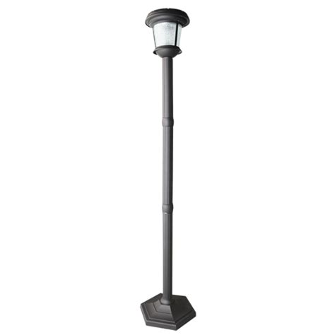 fair solar l post lights outdoor home depot l light