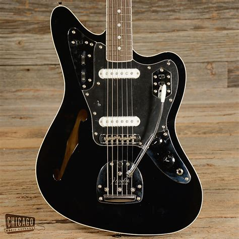 Fender Thinline Jaguar by Fender Special Edition Jaguar Thinline Black Used S409