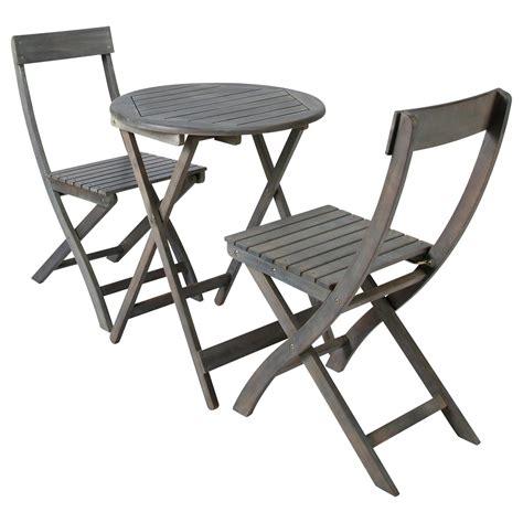 table 2 chaises de jardin en acacia grise d 39 cm