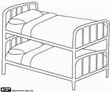 Bunk Bed Coloring Pages Beds Printable Sheet Household Table Standard Mattresses Stacked Directly Sofa Same Oncoloring Furniture Template sketch template