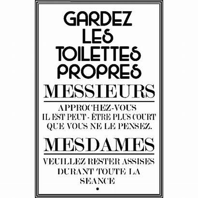 Toilettes Propres Citation Sticker Gardez Ambiance Toilette