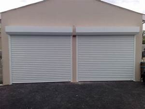 porte garage enroulable coffre blanche centpourcentpose With porte de garage enroulable avec porte renforcée