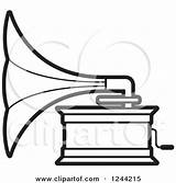 Clipart Gramophone Phonograph Record Player Illustration Royalty Template Perera Lal Vector Pages Sheet Records Clipground Vinyl 50s Allowed sketch template