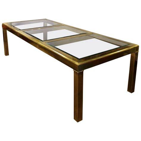 mid century glass dining table mid century modern mastercraft expandable beveled glass