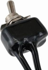 Pvc Coated Toggle Switch With Two 6 Inch Wire Leads On