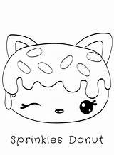 Donut Coloring Num Noms Pages Sprinkles Kawaii Donuts Printable Cat Sprinkle Series Drawings Sketch Sheets Bestcoloringpagesforkids Eating Cupcake Cake Cartoon sketch template