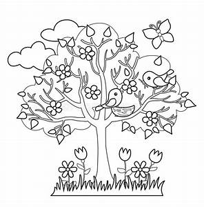 Spring Tree, Birds Build Nests, Seasonal Signs Of Spring ...