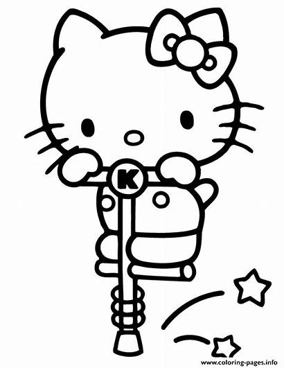 Kitty Coloring Hello Pages Stick Pogo Printable