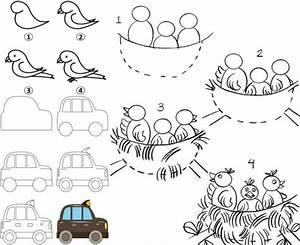 Ideen Zum Zeichnen : zeichnen lernen mit anleitungen f r kinder witzige figuren motive ~ Yasmunasinghe.com Haus und Dekorationen