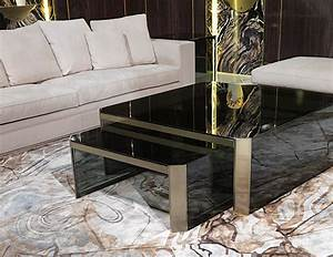 Nella vetrina visionnaire ipe cavalli barrett smoked glass for High end glass coffee tables