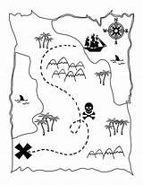 Pirate Map Games Coloring Printable Treasure Maps Pirates sketch template