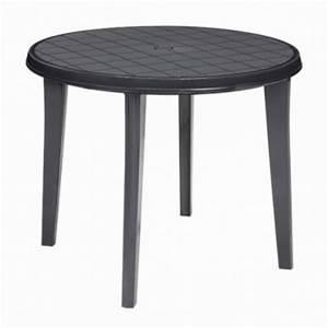 Tisch Rund 90 Cm : 90 cm gartentisch vollkunststoff tisch lisa 90 cm rund tisch aus kunststoff ebay ~ Indierocktalk.com Haus und Dekorationen