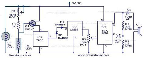 simple alarm circuit using ldr
