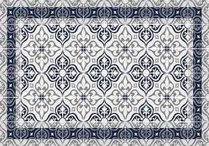 Set De Table Carreau De Ciment : set de table carreaux de ciment jos phine bleu nuit ~ Teatrodelosmanantiales.com Idées de Décoration