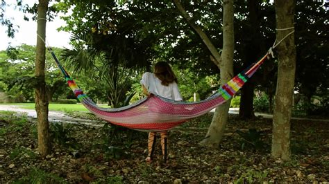 How To Hang A Hammock Between Two Trees YouTube