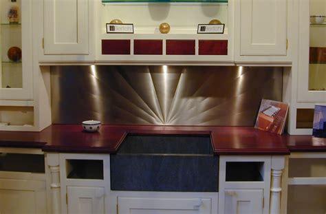 custom stainless steel backsplash