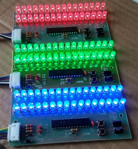 mcu adjustable display pattern led vu meter level