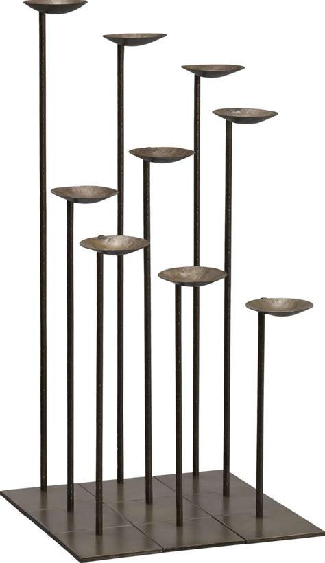 mariel floor pillar candle holders set of nine in