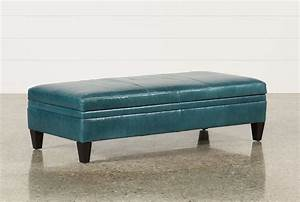 Adler Leather Large Rectangle Storage Ottoman - Living Spaces