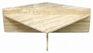 two piece modular travertine coffee table at 1stdibs With two piece coffee table
