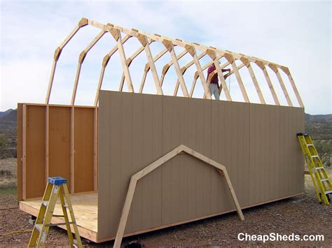 Pre Made Shed Trusses by Gambrel Barn Style Sheds
