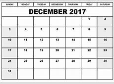 December 2017 Printable Calendar Printable Calendar