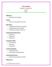 basic resume template high school students basic academic resume template models picture