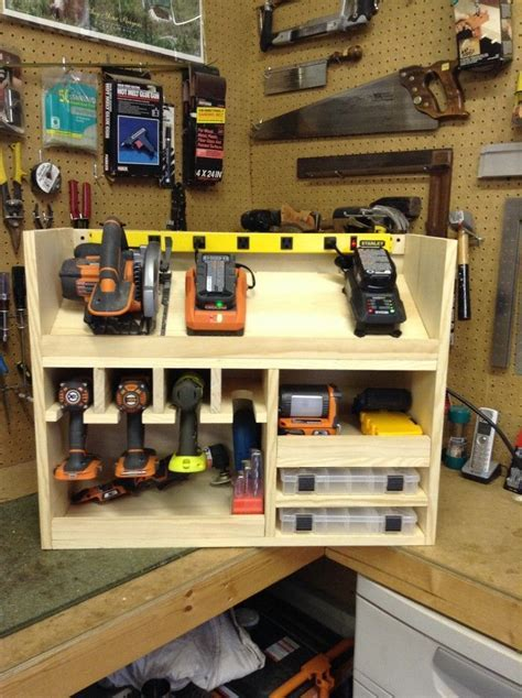 Cordless drill storage and charging station   Cool Ideas