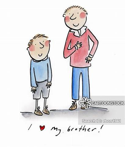 Brother Older Sibling Brothers Younger Cartoon Cartoons