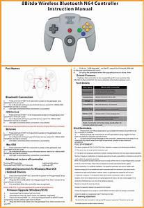 8bitdo Technology N64 8bitdo N64 Gamepad User Manual