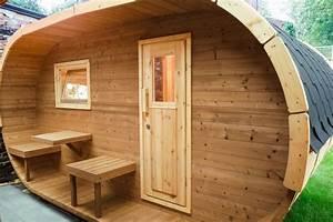 Fass Als Gartenhaus : fasssauna oval deluxe bei finnwerk ~ Markanthonyermac.com Haus und Dekorationen