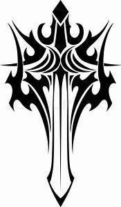 Geflügelte Schwert Tattoo tribal style | Vektorgrafik ...