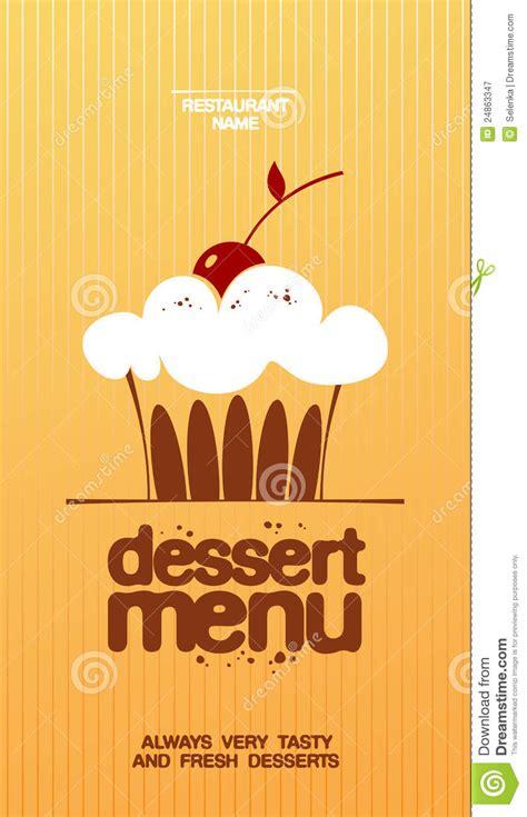 dessert menu stock vector illustration  illustration