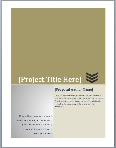 project funding proposal template word templates