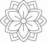 Flower Mandala Simple Printable Mandalas Coloring Patterns3 Beginners Lemonsandlattes sketch template