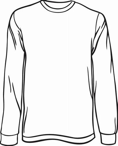 Sleeve Shirt Clipart Template Outline Drawing Blank