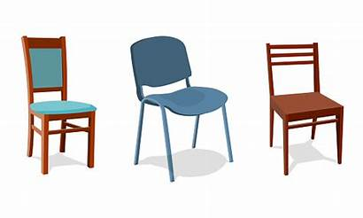 Chairs Illustration Vector Different Office Realistic Background
