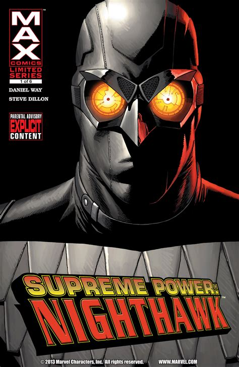 supreme power supreme power nighthawk vol 1 1 marvel database