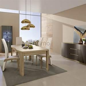 salle a manger contemporaine chene massif bicolore ou laquee With meuble salle À manger avec salle a manger massif