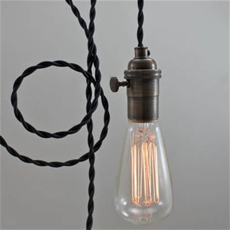 black modern bare bulb pendant light from scandalaskan